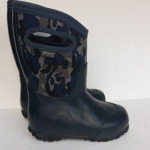 Bogs Durham Blue Camo Boots Toddler kids size 7